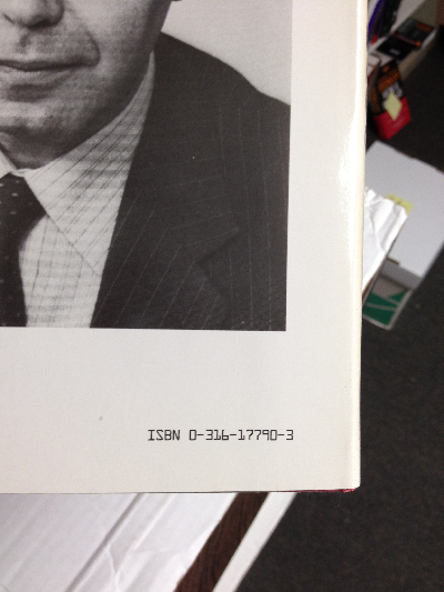 ISBN on back cover