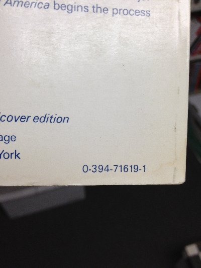 another ISBN on back cover