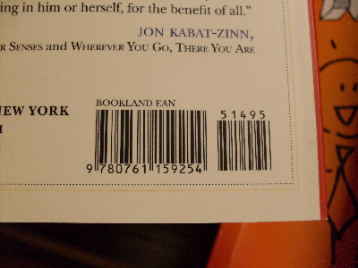 The book's EAN-13 bar code