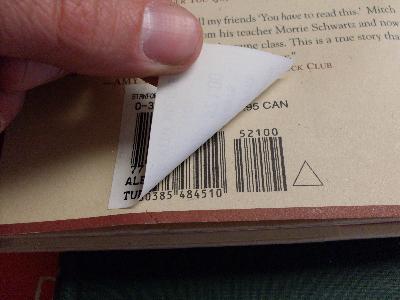 Peeling bar code sticker