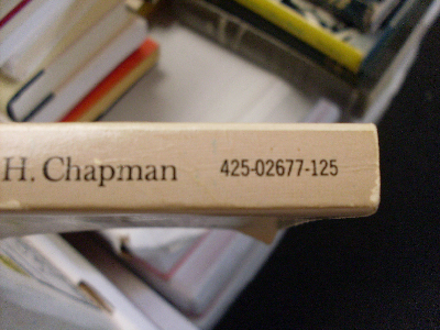 paperback with partial ISBN